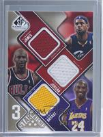 LeBron James, Michael Jordan, Kobe Bryant /125
