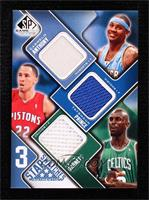 Carmelo Anthony, Tayshaun Prince, Kevin Garnett #/50