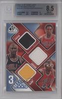 Scottie Pippen, Michael Jordan, Horace Grant /50 [BGS8.5NM‑MT…