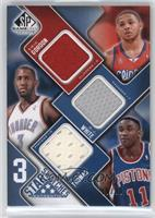 Eric Gordon, D.J. White, Isiah Thomas, Los Angeles Clippers Team Roster #/50