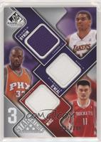 Andrew Bynum, Shaquille O'Neal, Yao Ming #/299