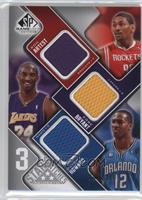 Metta World Peace, Kobe Bryant, Dwight Howard #/299