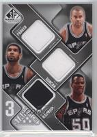 Tony Parker, Tim Duncan, David Robinson #/299