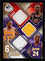 Michael Jordan, Magic Johnson, Kobe Bryant, Kevin Garnett, Derrick Rose, Russel…