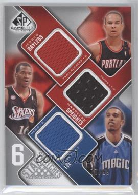 2009-10 SP Game Used - 6 Star Swatches #ALLBWS - Brook Lopez, Kyle Weaver, D.J. Augustin, Jerryd Bayless, Marreese Speights, Courtney Lee /99