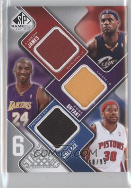 2009-10 SP Game Used - 6 Star Swatches #JBWGDK - Lebron James, Kobe Bryant, Rasheed Wallace, Kevin Garnett, Tim Duncan, Jason Kidd /99