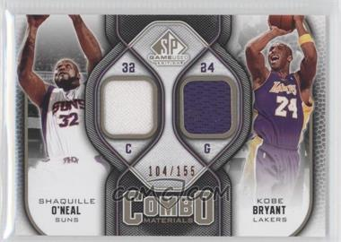 2009-10 SP Game Used - Combo Materials - Level 1 #CM-BS - Shaquille O'Neal, Kobe Bryant /155