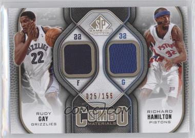 2009-10 SP Game Used - Combo Materials - Level 1 #CM-HG - Rudy Gay, Richard Hamilton /155