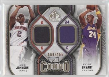 2009-10 SP Game Used - Combo Materials - Level 1 #CM-JK - Joe Johnson, Kobe Bryant /155