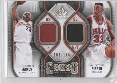 2009-10 SP Game Used - Combo Materials - Level 1 #CM-LS - Lebron James, Scottie Pippen /155