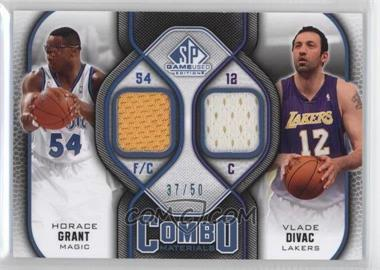 2009-10 SP Game Used - Combo Materials - Level 2 #CM-DG - Vlade Divac, Horace Grant /50