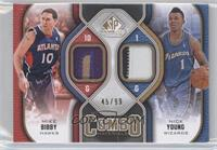 Mike Bibby, Nick Young /99