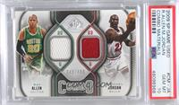 Michael Jordan, Ray Allen [PSA 10 GEM MT] #/499