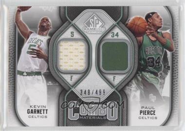 2009-10 SP Game Used - Combo Materials #CM-KP - Kevin Garnett, Paul Pierce /499