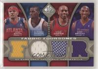 Desmond Mason, Vince Carter, Kobe Bryant, Josh Smith #/125
