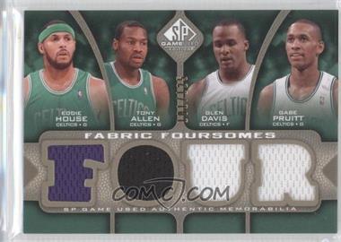 2009-10 SP Game Used - Fabric Foursomes - Level 1 #F4-HAPD - Eddie House, Glen Davis, Gabe Pruitt, Tony Allen /125