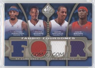 2009-10 SP Game Used - Fabric Foursomes - Level 1 #F4-HBAS - Richard Hamilton, Walter Sharpe, Arron Afflalo, Kwame Brown /125