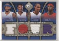 Richard Hamilton, Walter Sharpe, Arron Afflalo, Kwame Brown #/125
