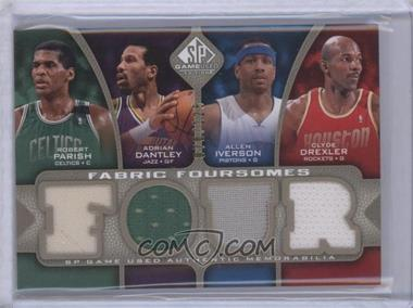 2009-10 SP Game Used - Fabric Foursomes - Level 1 #F4-IDPD - Adrian Dantley, Allen Iverson, Clyde Drexler, Robert Parish