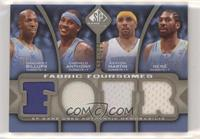 Chauncey Billups, Carmelo Anthony, Kenyon Martin, Nene /125 [EX to NM]