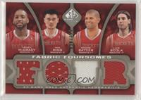 Tracy McGrady, Yao Ming, Shane Battier, Luis Scola #/125