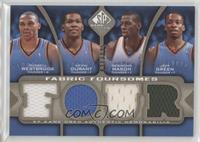 Russell Westbrook, Kevin Durant, Desmond Mason, Jeff Green /125
