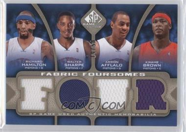 2009-10 SP Game Used - Fabric Foursomes - Level 2 #F4-HBAS - Richard Hamilton, Walter Sharpe, Arron Afflalo, Kwame Brown /50