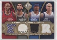 Vince Carter, Tim Duncan, Allen Iverson, Jason Kidd #/35