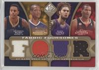 Brandon Rush, Anthony Randolph, Robin Lopez, Marreese Speights /35