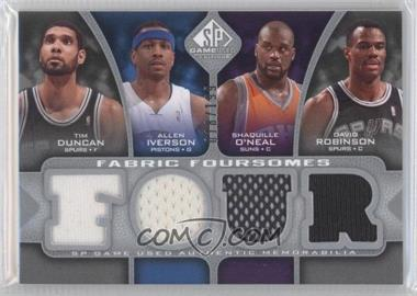 2009-10 SP Game Used - Fabric Foursomes #F4-DIOR - Tim Duncan, Allen Iverson, Shaquille O'Neal, David Robinson /199