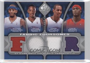2009-10 SP Game Used - Fabric Foursomes #F4-HBAS - Richard Hamilton, Walter Sharpe, Arron Afflalo, Kwame Brown /199