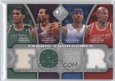 2009-10 SP Game Used - Fabric Foursomes #F4-IDPD - Adrian Dantley, Allen Iverson, Clyde Drexler, Robert Parish /199