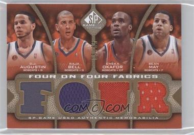 2009-10 SP Game Used - Four on Four Fabrics - Level 1 #FF-ABOMLNRH - D.J. Augustin, Raja Bell, Emeka Okafor, Sean May, Courtney Lee, Jameer Nelson, J.J. Redick, Dwight Howard /65