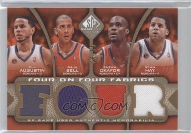 2009-10 SP Game Used - Four on Four Fabrics - Level 1 #FF-ABOMLNRH - D.J. Augustin, Raja Bell, Emeka Okafor, Sean May, Courtney Lee, Jameer Nelson, J.J. Redick, Dwight Howard /65
