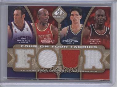 2009-10 SP Game Used - Four on Four Fabrics - Level 1 #FF-MDSJFWHK - Dan Majerle, Clyde Drexler, John Stockton, Michael Jordan, Walt Frazier, Spud Webb, Jeff Hornacek, Steve Kerr /65