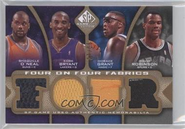 2009-10 SP Game Used - Four on Four Fabrics - Level 1 #FF-OBGRIMBA - Shaquille O'Neal, Kobe Bryant, David Robinson, Horace Grant, Allen Iverson, Dikembe Mutombo, Raja Bell, Ray Allen /65