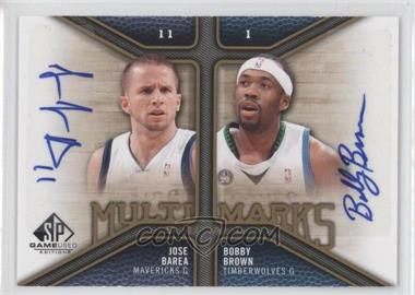 2009-10 SP Game Used - Multi Marks Dual Autographs - [Autographed] #MD-BJ - J.J. Barea, Bobby Brown