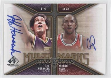2009-10 SP Game Used - Multi Marks Dual Autographs - [Autographed] #MD-HR - Jeff Hornacek, Michael Redd