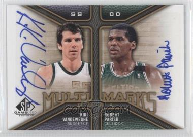 2009-10 SP Game Used - Multi Marks Dual Autographs - [Autographed] #MD-VP - Kiki Vandeweghe, Robert Parish