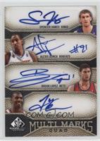 Spencer Hawes, Alexis Ajinca, Brook Lopez, Tyrus Thomas /50