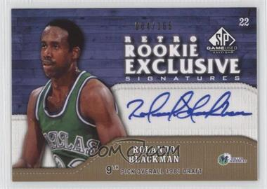 2009-10 SP Game Used - Retro Rookie Exclusive Signatures - [Autographed] #RR-RO - Rolando Blackman /165