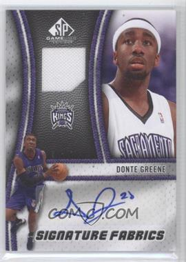 2009-10 SP Game Used - Signature Fabrics - [Autographed] #SF-NE - Donte Greene