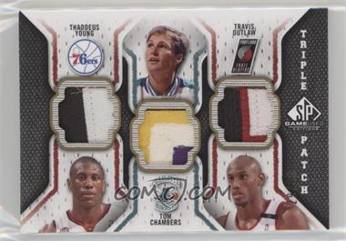 2009-10 SP Game Used - Triple Patch #TP-COY - Thaddeus Young, Tom Chambers, Travis Outlaw /60