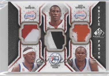 2009-10 SP Game Used - Triple Patch #TP-FRY - Al Thornton, Thaddeus Young, Zach Randolph /60