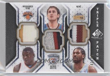 2009-10 SP Game Used - Triple Patch #TP-KSN - Mouhamed Sene, Nenad Krstic, Nene /60