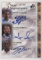 Wayne Ellington, DaJuan Summers, Ty Lawson /99