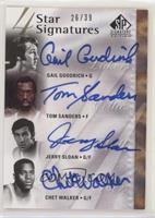 Gail Goodrich, Tom Sanders, Jerry Sloan, Chet Walker #/39
