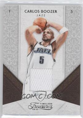 2009-10 Timeless Treasures - [Base] - Materials [Memorabilia] #37 - Carlos Boozer /100