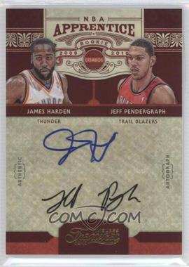 2009-10 Timeless Treasures - NBA Apprentice Combo - Signatures [Autographed] #23 - Jeff Pendergraph, James Harden /25