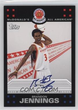 2009-10 Topps - McDonald's All-American Game-Day Autographs #BJ - Brandon Jennings